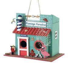 """Flamingo Paradise Decorative Birdhouse w/ Lighthouse Chimney 1 1/4"""" Hole"""