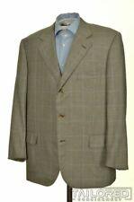 SULKA Gray Check 100% CASHMERE Mens Blazer Sport Coat Jacket - EU 56 / US 44 R