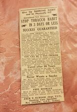 Give Up Smoking 1941 Advertisement