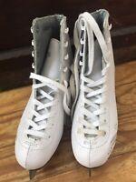 Lake Placid  Girl's  White Figure Ice Skates size 3