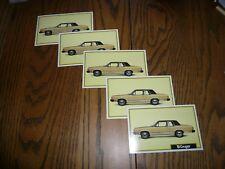 1981 Mercury Cougar Announcement Post Card Factory - Five