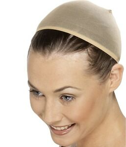Ladies Wig Cap Stretches to Cover Hair Fancy Dress Hair Cap New by Smiffys