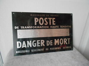 French Vintage LOFT INDUSTRIAL Plaque Sign