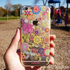 MADE IN JAPAN Soft Clear TPU Case Vuodenaika Flowers for iPhone 6 & iPhone 6s