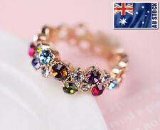 18K ROSE GOLD GF Lady's Cocktail Multi Color Wedding Engagement Ring Size 6 - 10