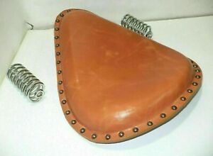 Royal Enfield Electra Standard Tan Colour Pure Leather Saddle Solo Rider Seat