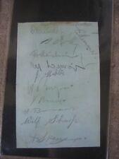 sheffield wednesday Autograph's 1934-1935 season fa cup final team players