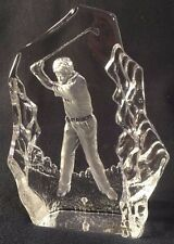 Shayrich Crystal Collection clear 24% lead crystal golfer décor item/paperweight