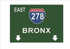 New York Reproduction Metal Sign The Bronx Street Sign NYC Bronx Sign