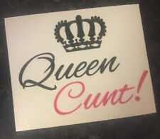 Queen C**t Decal vinyl stickers for Wine Glasses Gift Valentines