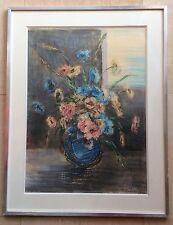M.Rosier Bournay Ec.Fr Xxème Bouquet De Fleurs Devant Fenêtre 54/39