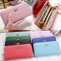 Women Fashion Lady PU Leather Purse Clutch Wallet Zip Handbag Holder Card Long