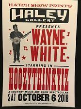 Rare Wayne White Hatch Show Print Poster HOOZYTHINKYIZ Pee-wee's Playhouse