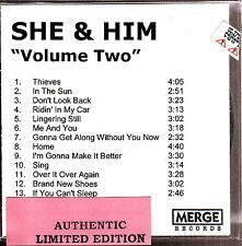 she & him volume two limited edition cd m ward zooey deschanel