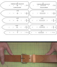 10 PIECE BELT ENDS TEMPLATE  SET IN STANDARD SIZES FOR LEATHER CRAFT - SSBT10