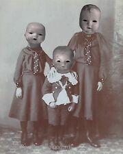 Victorian Doll Art Print 8 x 10 - Altered Art - Doll Family - Surreal - Horror