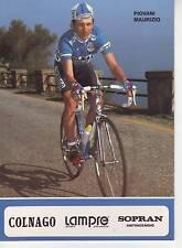 CYCLISME carte PIOVANI MAURIZIO équipe LAMPRE 1991 format 12 x 16,5 cm