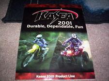 Kasea 2001 Product Line Sales Brochure ATV Dirt Bike Scooter Go Cart Accesories