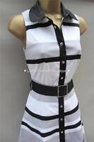New KAREN MILLEN BNWT £190 Stripe Colour Block Evening Party Shirt Dress SALE