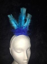 ROAD RUNNER BLUE BIRD Fancy Dress Headress Feather Hairband Costume