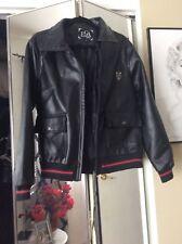 Men's Black EGA Emporio PVC Jacket Size Small Italy New