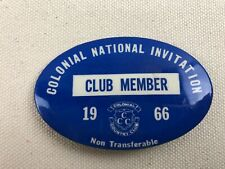 1966 Badge Pinback - Colonial National Invitation - Pga Gold - Fort Worth Texas