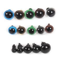 264xTeddyaugen Sicherheitsaugen 6-12mm Kunststoffaugen Puppe Augen DIY