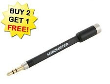 NEW! Monster icable link Headphone Adapter extender 3.5mm mini-jack For i Phone