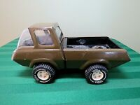 Tonka Army Green Pressed Steel Pick-Up Truck Cab Forward 70's Vintage HS5
