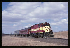 Original Slide Very Nice Wisconsin Central WC SDL39 587 with Passenger Special