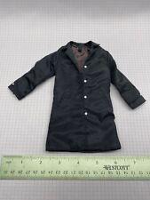 "1/6 Scale Clothing for Custom Gijoe Military 12"" figure Black Trench Coat Spy"