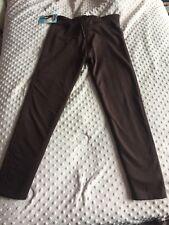 Indero Womens Brown Leggings Faux Fur Lined Nylon Spandex Sz L/XL
