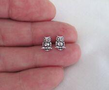 Sterling Silver 9mm owl Hypo-Allergenic Post stud earrings.