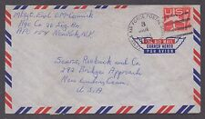 **US Airmail APO Cover, APO #154, 1/3 CDS to New London, CT CV $25.00