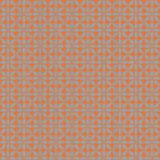 Wallpaper Mid Century Modern Retro Gloss Metallic Brushed Silver on Orange