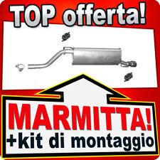 Scarico FIAT GRANDE PUNTO (199) OPEL CORSA D 1.4 con cromo Marmitta HJF
