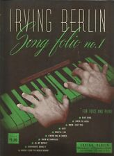 Irving Berlin Song Folio No 1 1944 Vintage Sheet Music for Voice and Piano