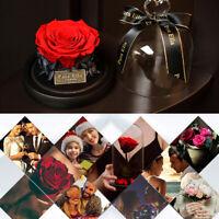 Konservierte Rose im Glas - Geschenk für Frau Frauen Freundin Jahrestag Hochzeit