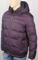 Tommy Hilfiger Wine Ultra Loft Hooded Ski Puffer Coat Wind Resistant NWT $225