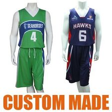 Custom Made Basketball Tops Shorts Uniforms Jerseys Singlets Fully Sublimated