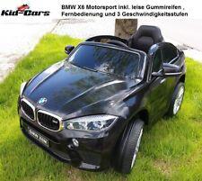 Kinderauto elektrisch BMW X6 X6M in schwarz mit 2 Akkus Elektrofahrzeug 2x 45W