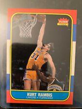 1986-87 Fleer Basketball #89 KURT RAMBIS ROOKIE......NRMT