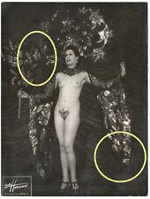 24x18cm Älteres Foto Studio Harcourt Burlesque Nackt Akt Revuegirl Paris photo 1