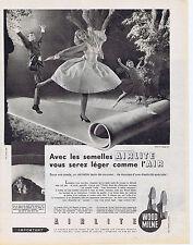 PUBLICITE ADVERTISING 064 1959 WOOD MILNE les semelles Airlite