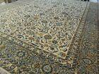 9x12 Semi-Antique Lavar Kermaan wool Oriental Area Rug Ivory Blue gold Yellow