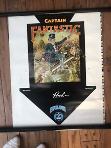 ELTON JOHN CAPTAIN FANTASTIC POSTER 1975 Crazy RARE From Holland Orig. Test Pres