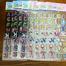 10 Sheets English Letter Sticker Cute Cartoon Craft Bubble Stickers for Kids DIY