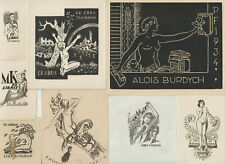 18 Ex libris erotic Art Deco and oders style Exlibris by V. artist / Europe