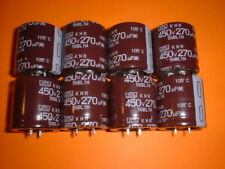 8x Elko 270µF / 450V 105°C 30x30mm Nippon Chemicon 270uF