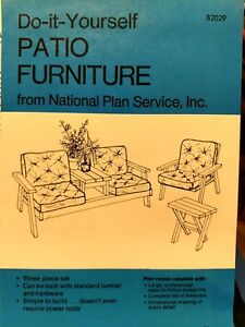 DYI Blueprints for Patio Furniture